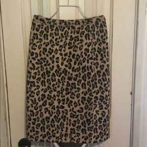 St John knit leopard print skirt!